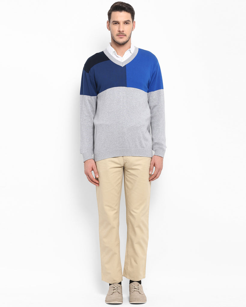 ColorPlus Multicoloured Tailored Fit Sweater