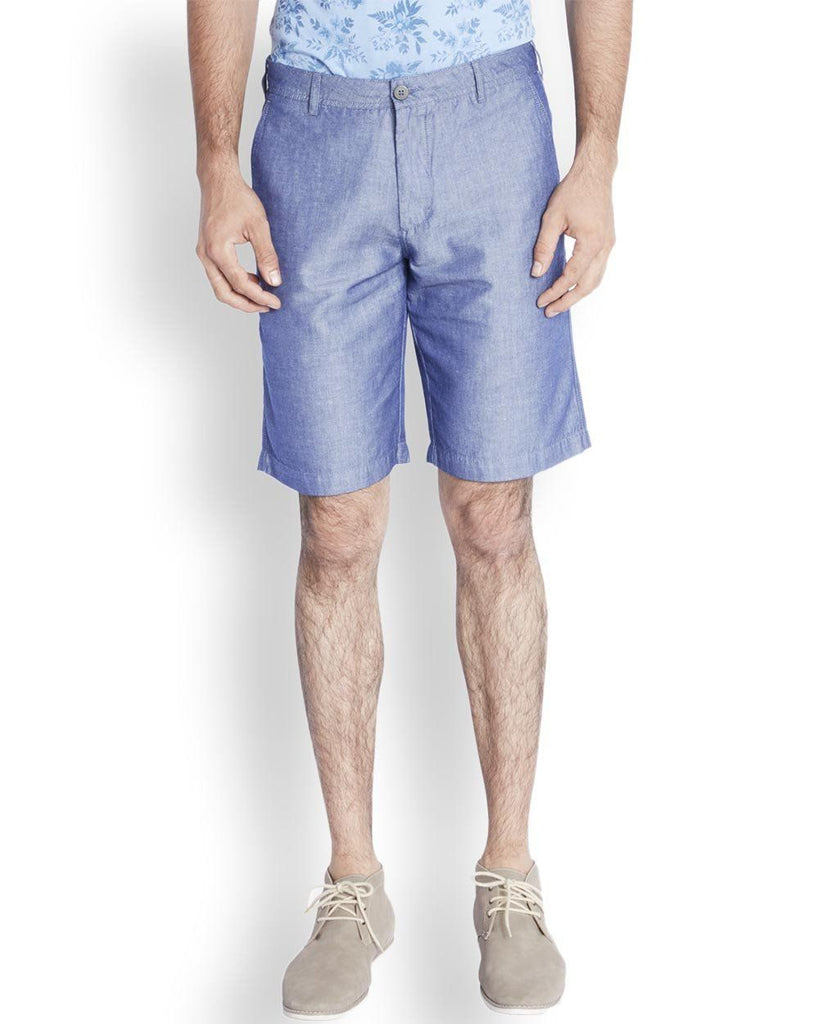 ColorPlus  Blue Tailored Fit Shorts