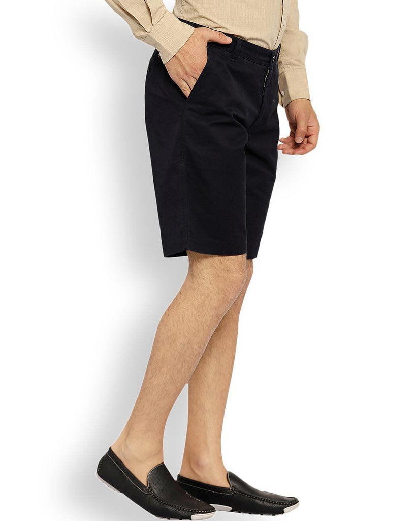 ColorPlus  Navy Blue Tailored Fit Shorts