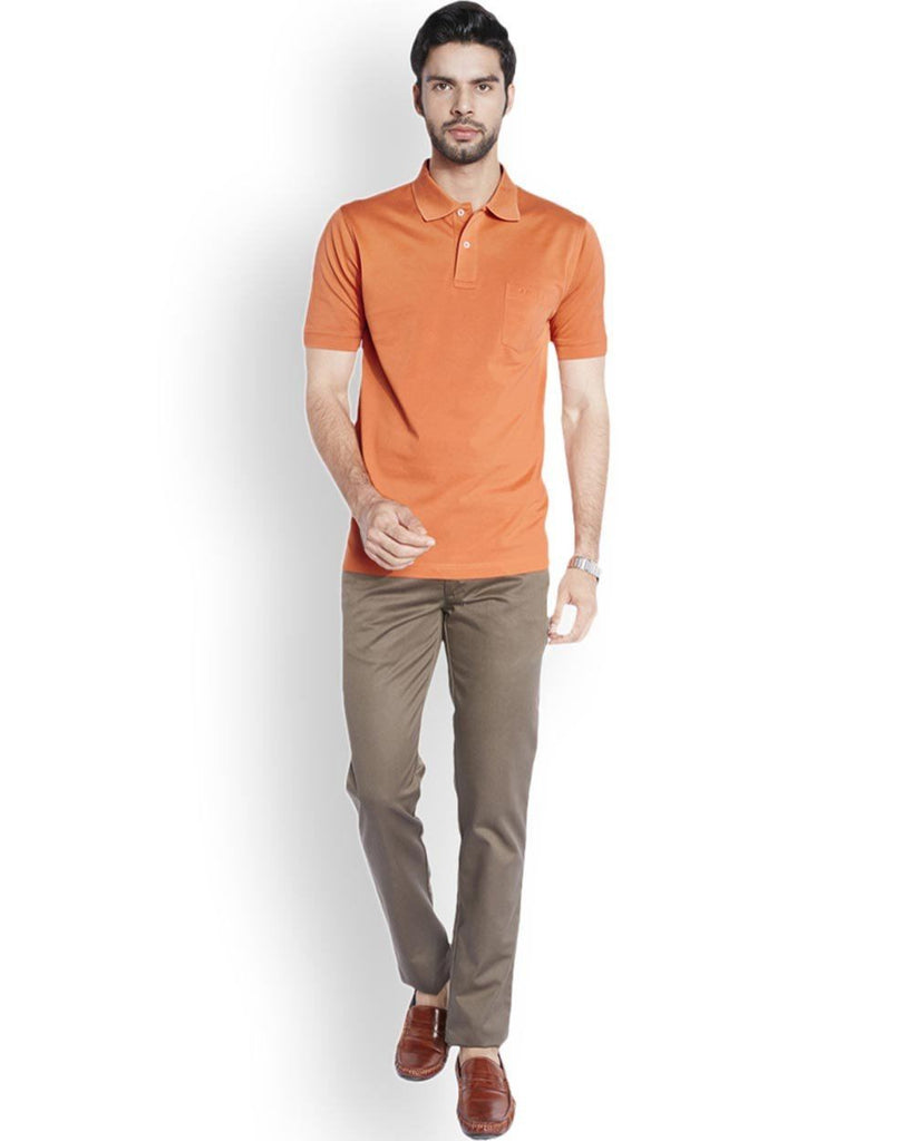 ColorPlus  Orange Classic Fit T-Shirt