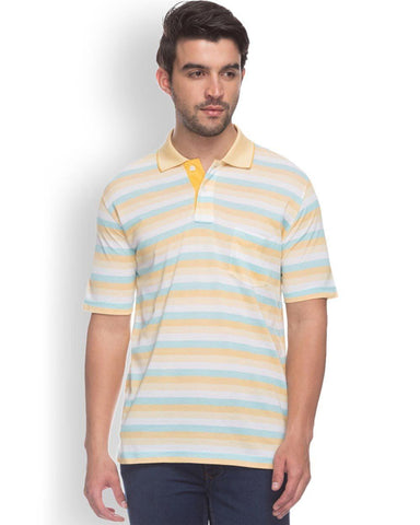 ColorPlus  Yellow Classic Fit T-Shirt