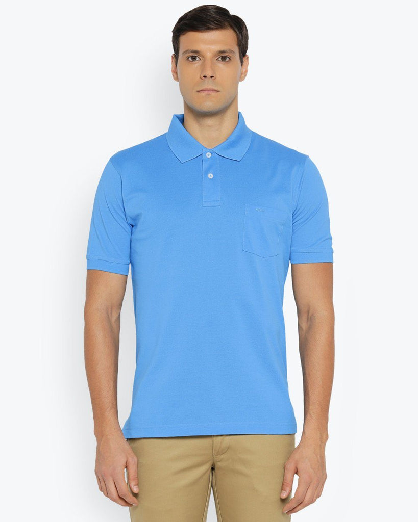 ColorPlus Medium Blue Classic Fit T-Shirt