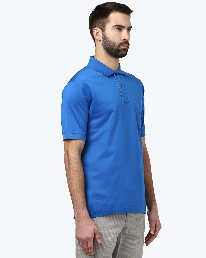 ColorPlus Dark Blue Classic Fit T-Shirt