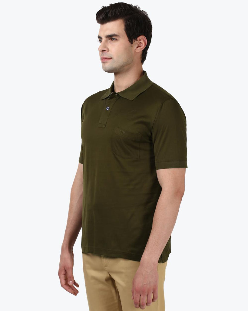 ColorPlus Dark Green Classic Fit T-Shirt