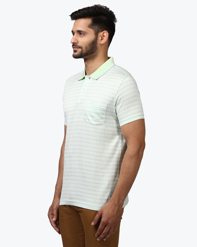 ColorPlus Medium Green Regular Fit T-Shirt