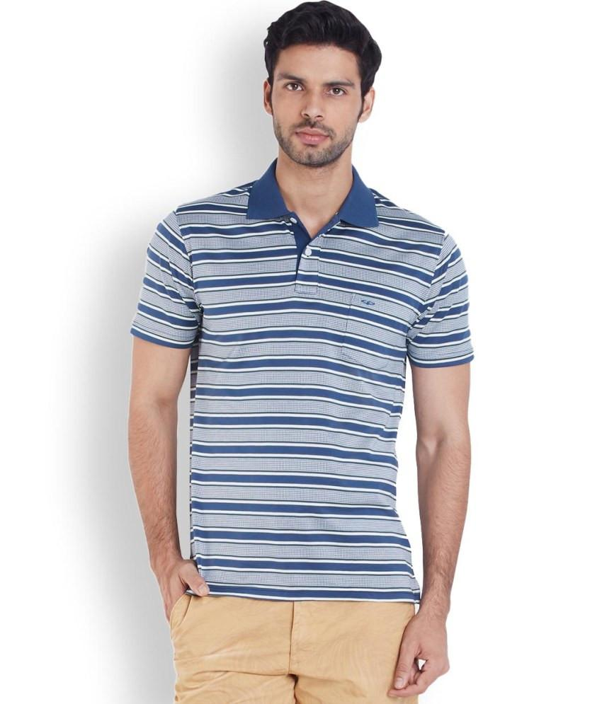 ColorPlus Blue Slim Fit T-Shirt