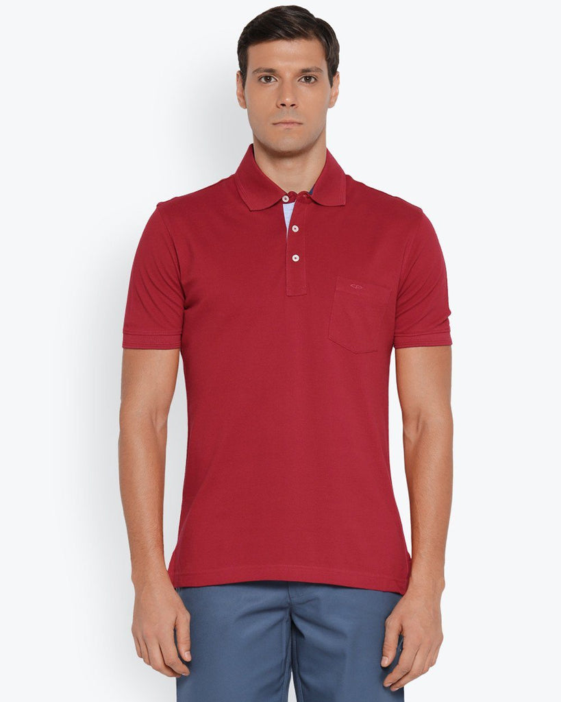 ColorPlus Medium Red Tailored Fit T-Shirt