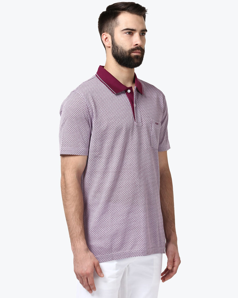 ColorPlus Medium Violet Tailored Fit T-Shirt