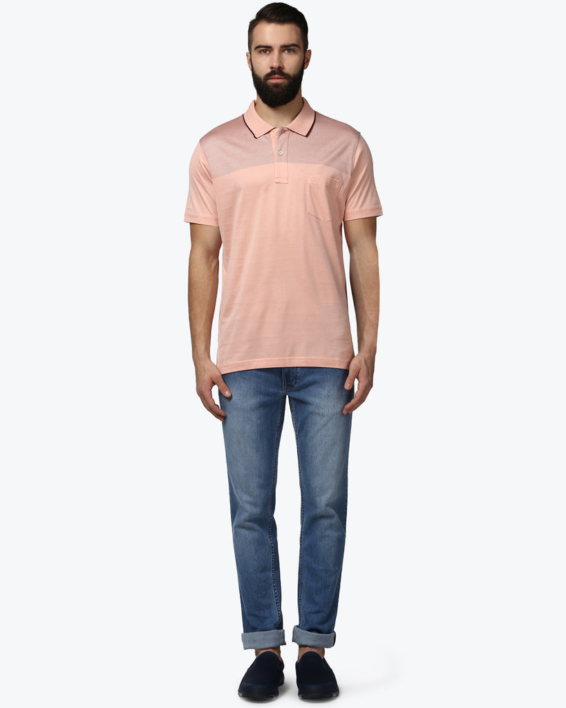 ColorPlus Light Red Tailored Fit T-Shirt