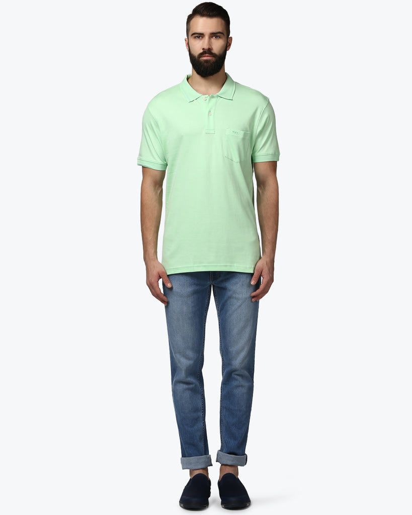 ColorPlus Light Green Tailored Fit T-Shirt