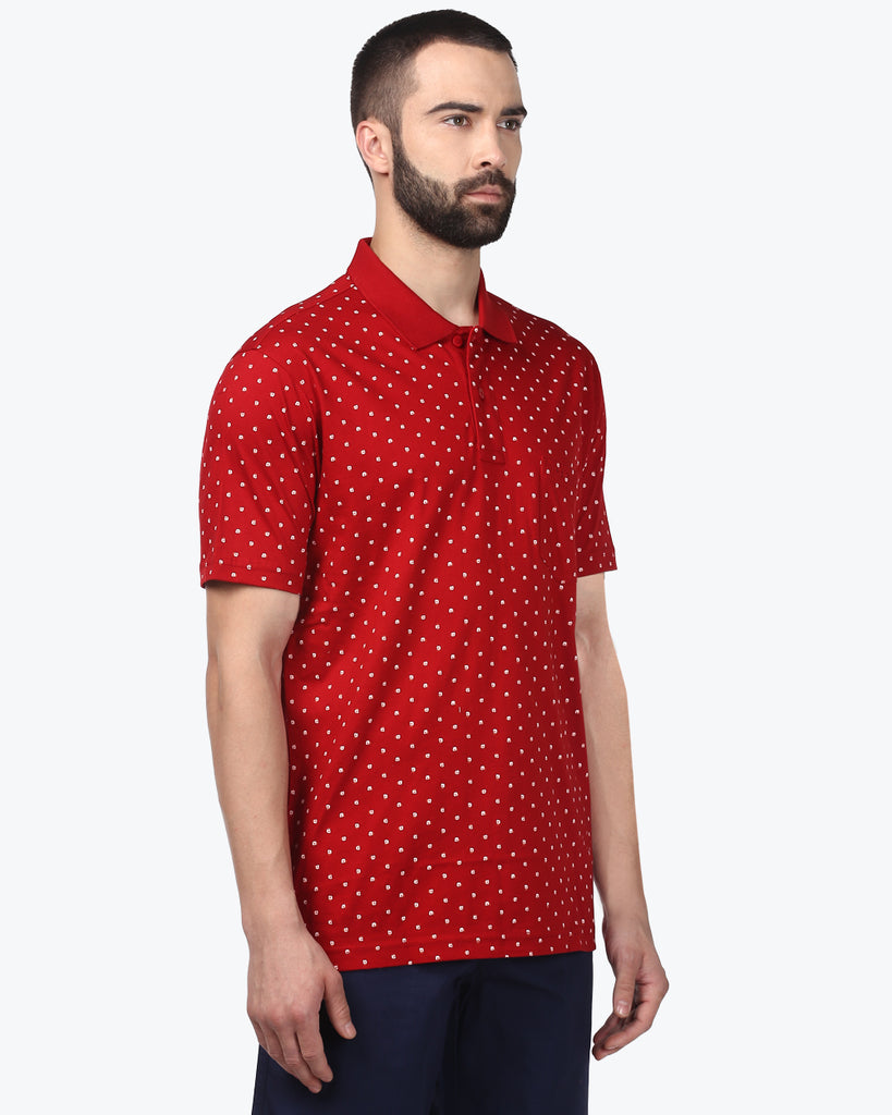 ColorPlus Dark Red Tailored Fit T-Shirt