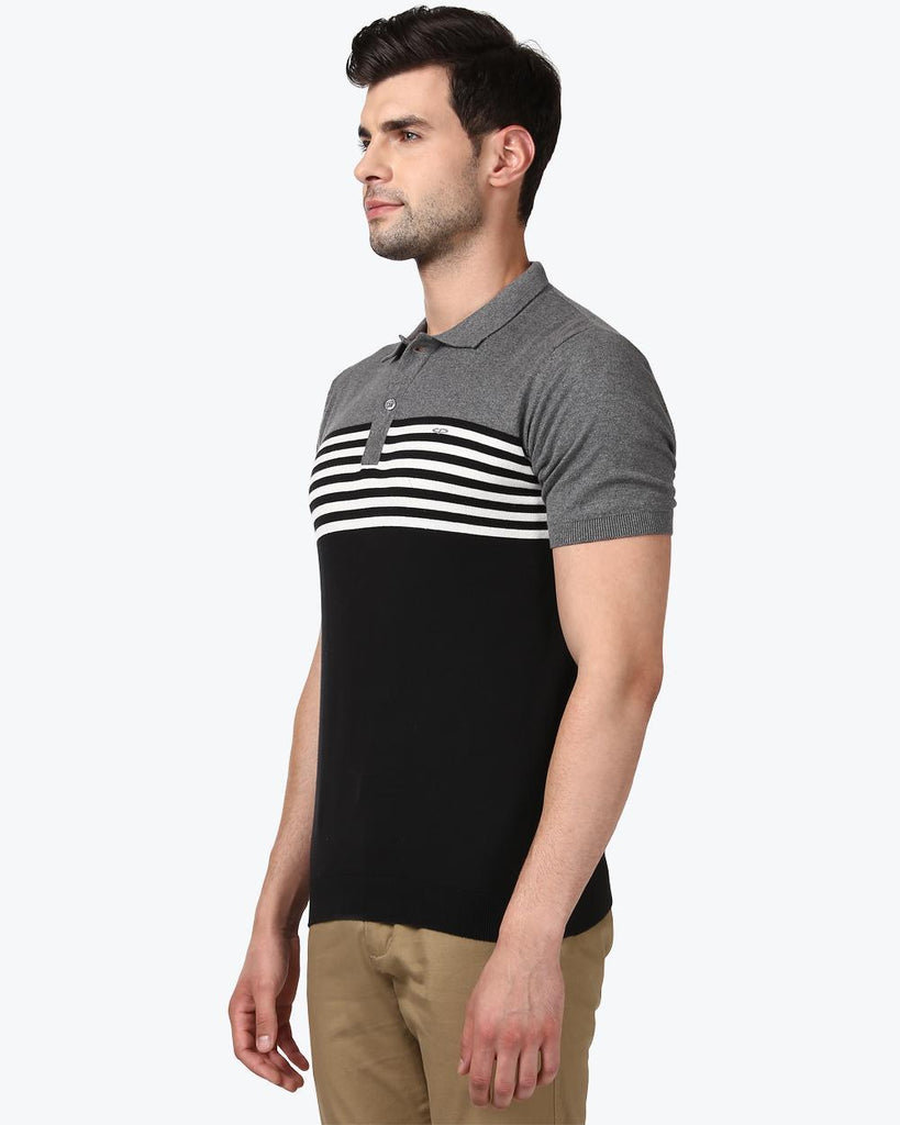ColorPlus Black Tailored Fit T-Shirt