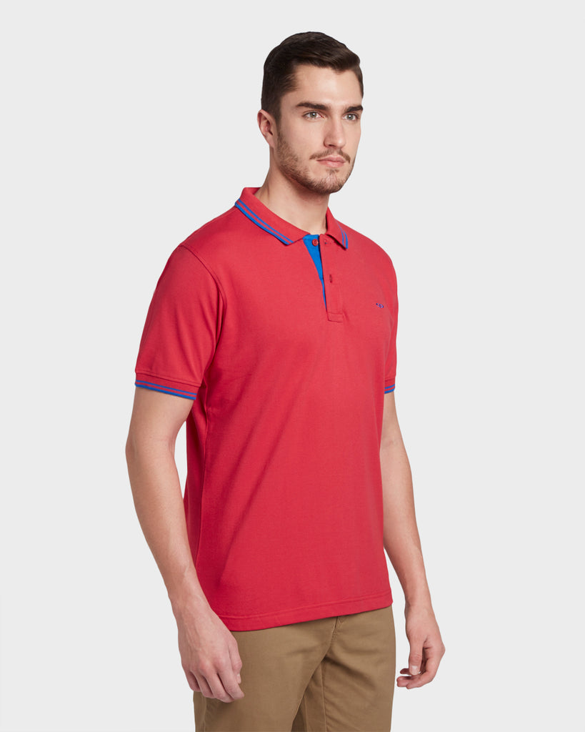 ColorPlus Dark Red Slim Fit T-Shirt