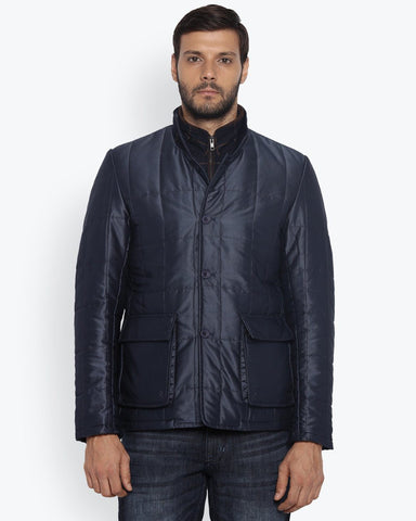 ColorPlus Navy Blue Classic Fit Jacket
