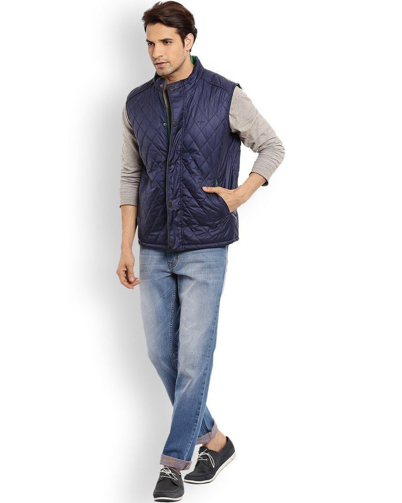 ColorPlus   Blue Classic Fit Outerwear