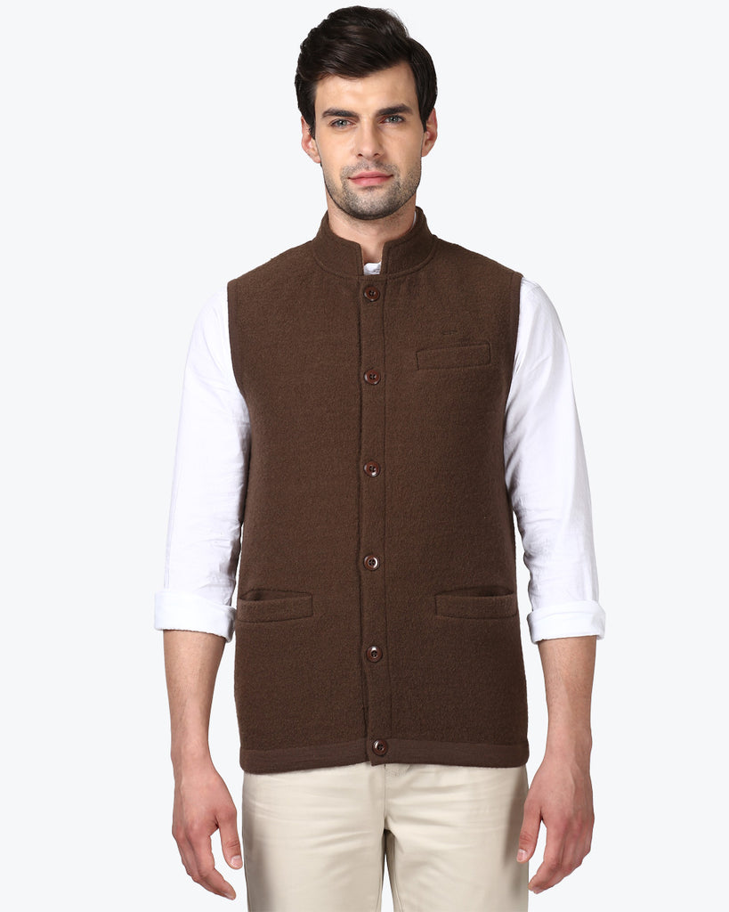 ColorPlus Brown Regular Fit Jacket