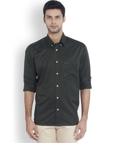 ColorPlus  Green Classic Fit Shirt