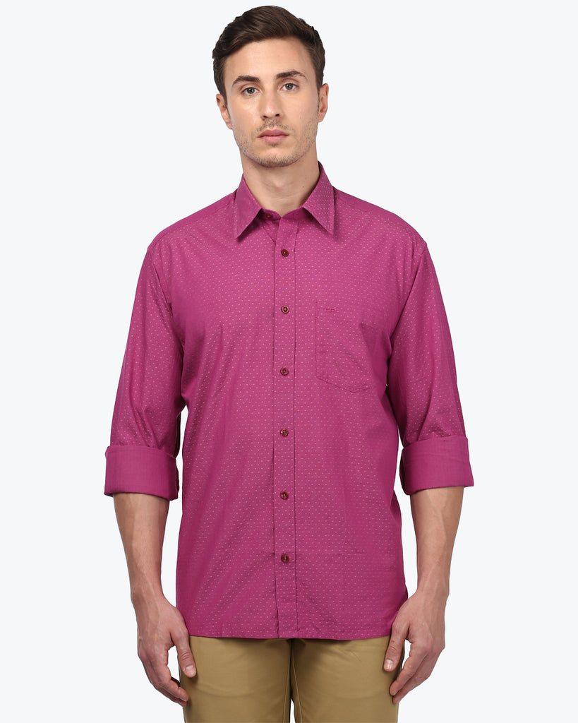 ColorPlus Pink Classic Fit Shirt