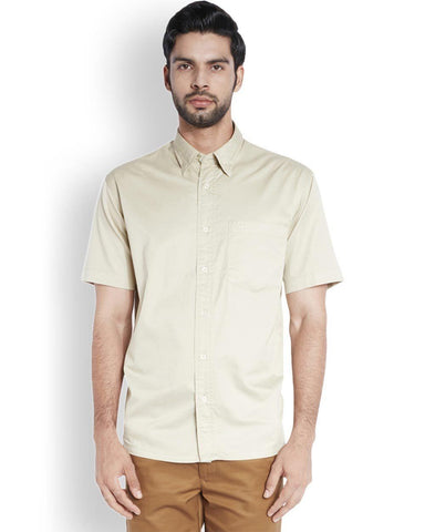 ColorPlus  Beige Classic Fit Shirt