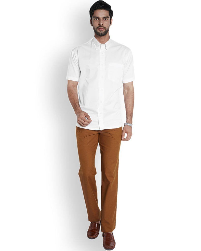 ColorPlus  White Classic Fit Shirt