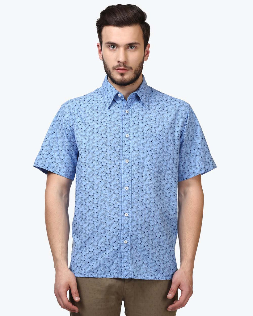 ColorPlus Blue Regular Fit Shirt