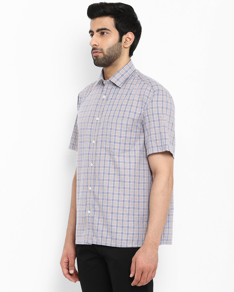 ColorPlus Grey Classic Fit Shirt