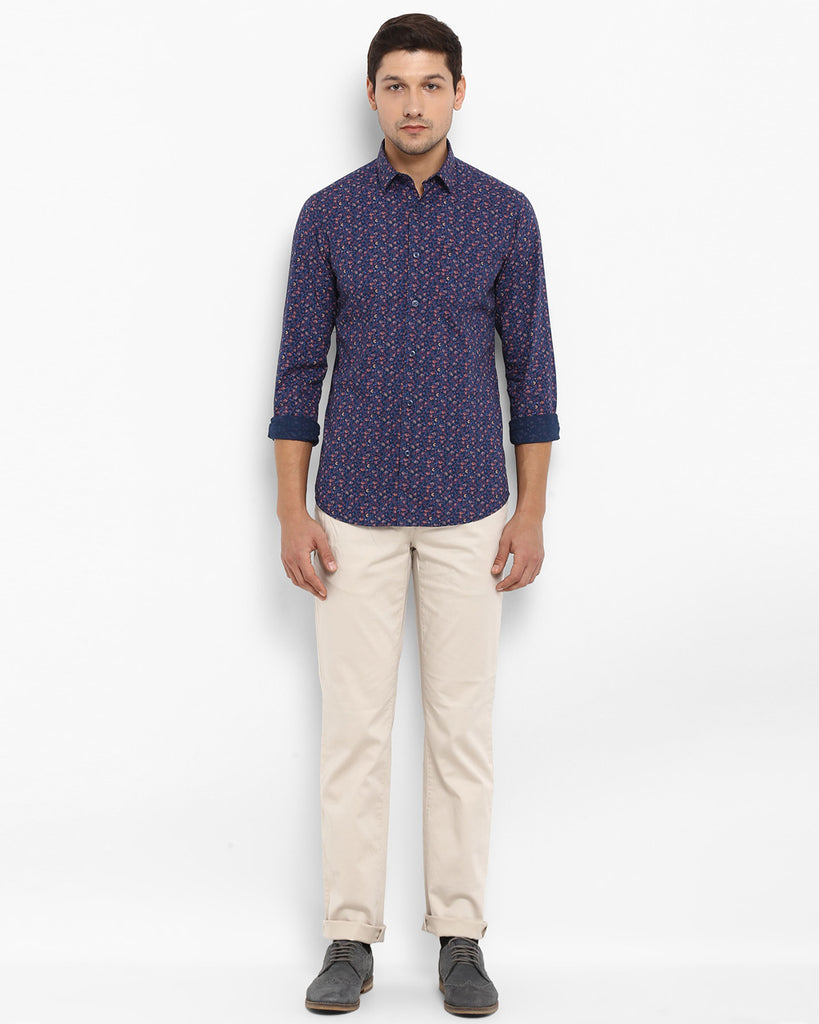 ColorPlus Multicoloured Contemporary Fit Shirt