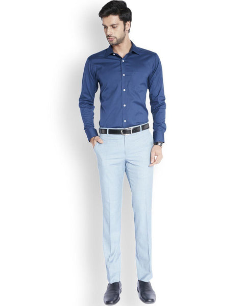 ColorPlus  Navy Blue Tailored Fit Shirt