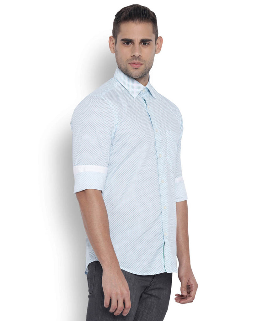 ColorPlus Medium Green Tailored Fit Shirt