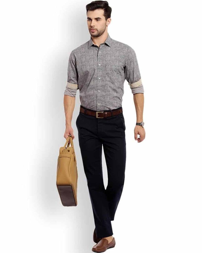 ColorPlus  Grey Tailored Fit Shirt