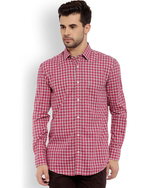 ColorPlus  Red Tailored Fit Shirt
