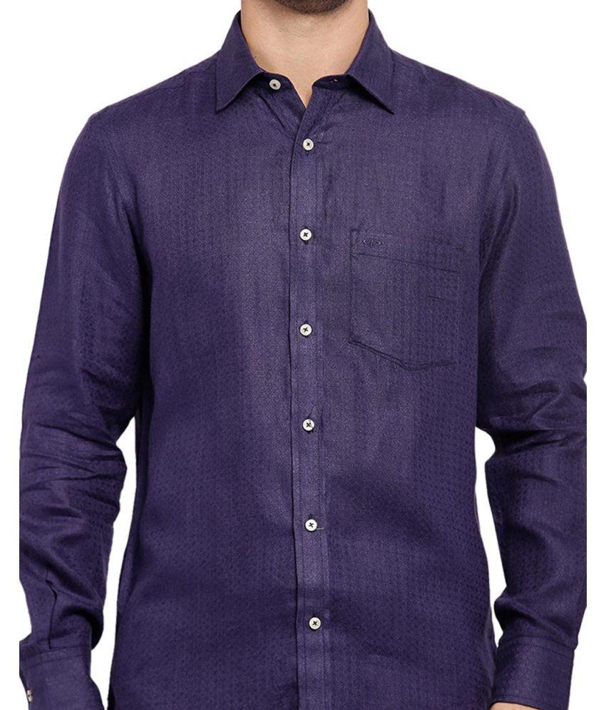 ColorPlus Dark Violet Tailored Fit Shirt