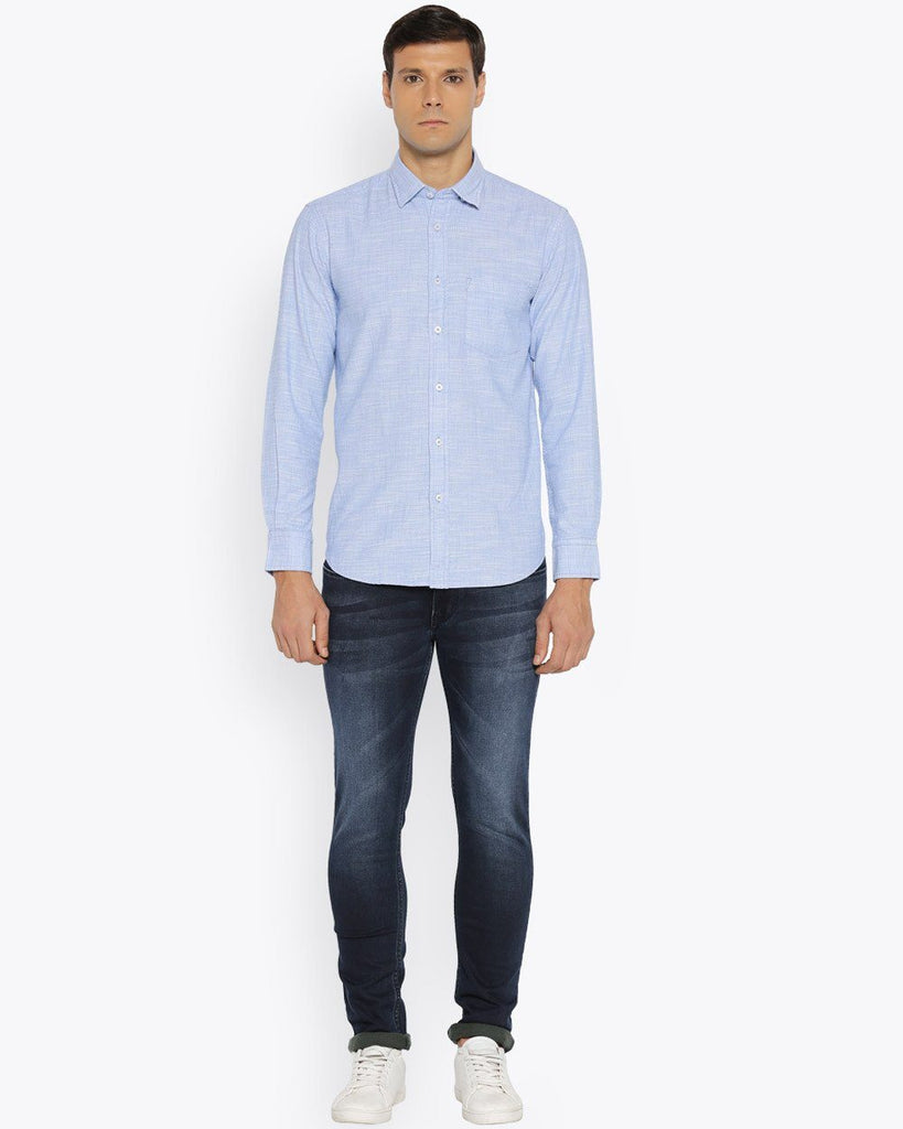 ColorPlus Dark Blue Tailored Fit Shirt
