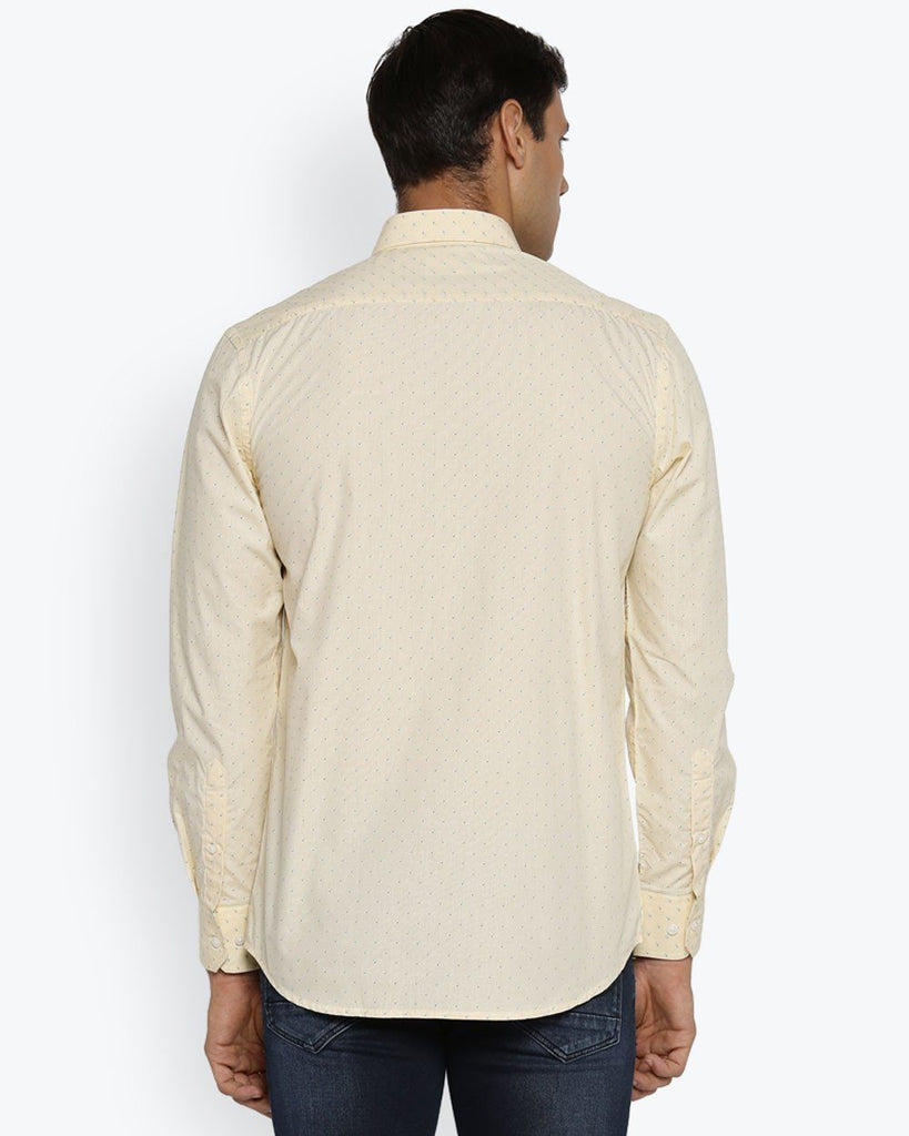ColorPlus Light Yellow Tailored Fit Shirt