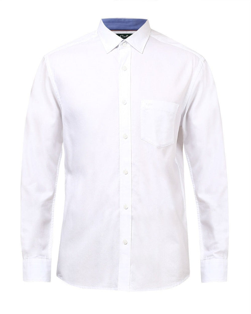 ColorPlus White Tailored Fit Shirt