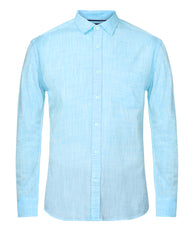 ColorPlus Light Blue Slim Fit Shirt