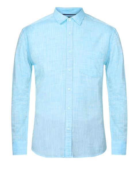 ColorPlus Blue Slim Fit Shirt
