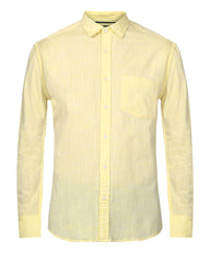 ColorPlus Medium Yellow Slim Fit Shirt