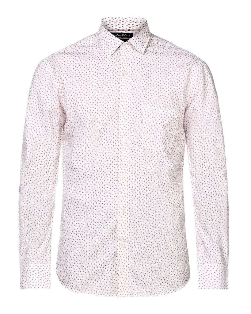 ColorPlus Medium Orange Tailored Fit Shirt