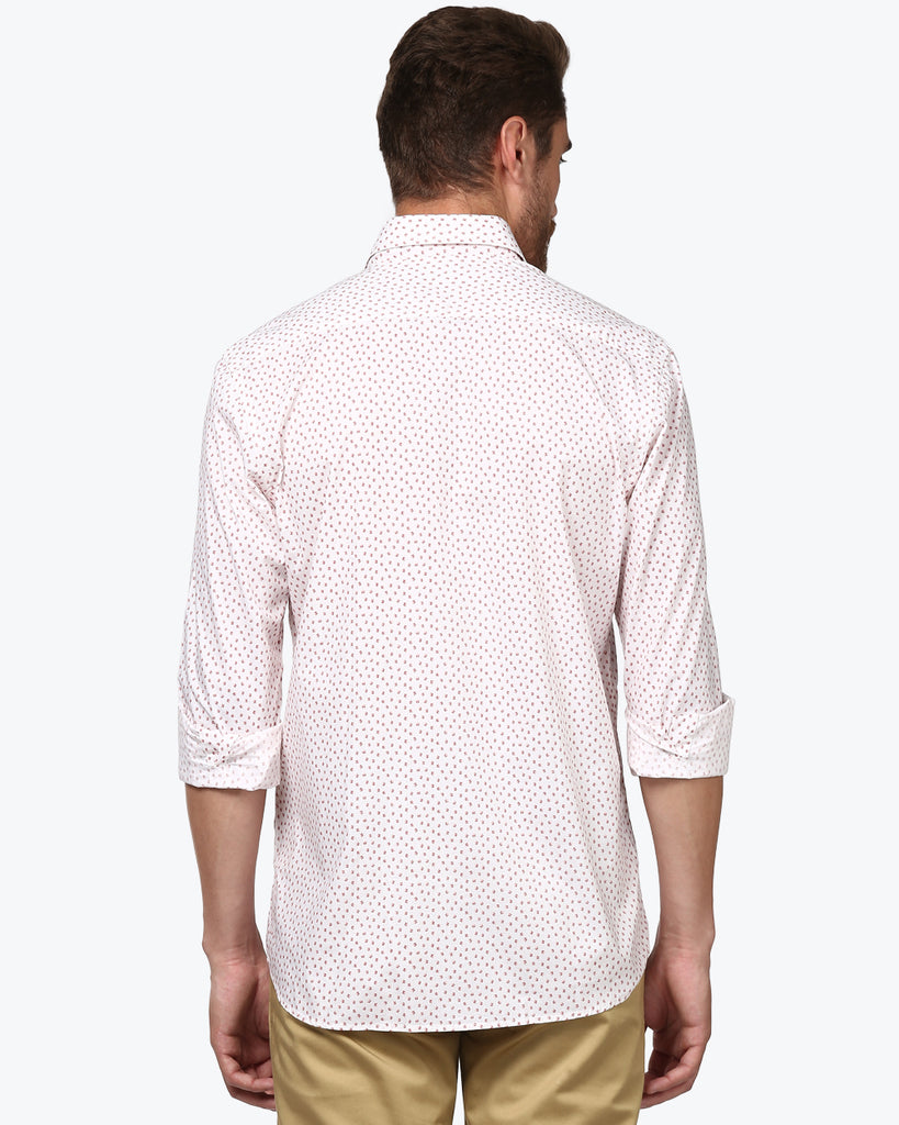 ColorPlus Off-white Tailored Fit Shirt