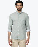 ColorPlus Medium Green Slim Fit Shirt