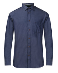 ColorPlus Indigo Tailored Fit Shirt