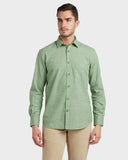 ColorPlus Dark Green Slim Fit Shirt