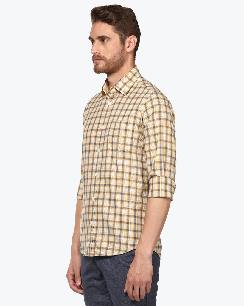ColorPlus Dark Yellow Tailored Fit Shirt