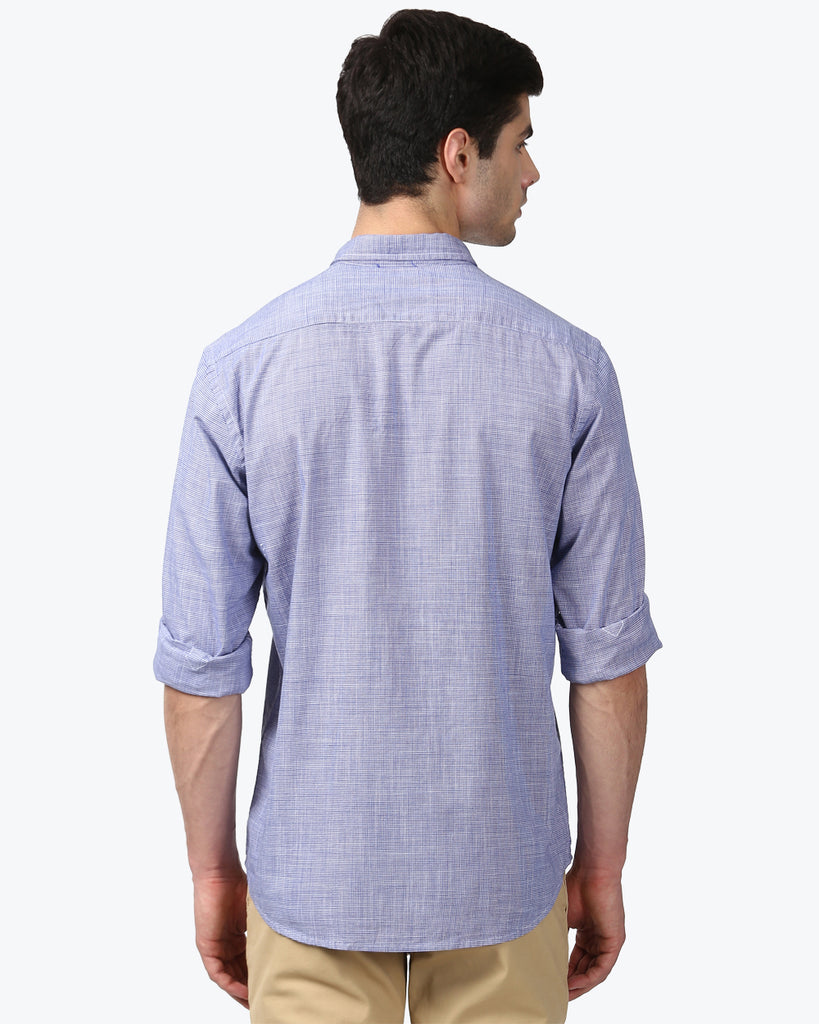 ColorPlus Blue Tailored Fit Shirt