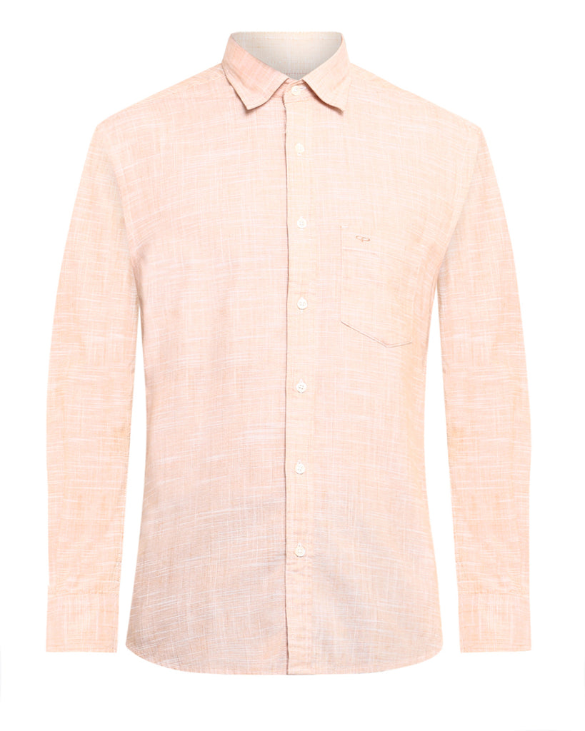 ColorPlus Orange Tailored Fit Shirt