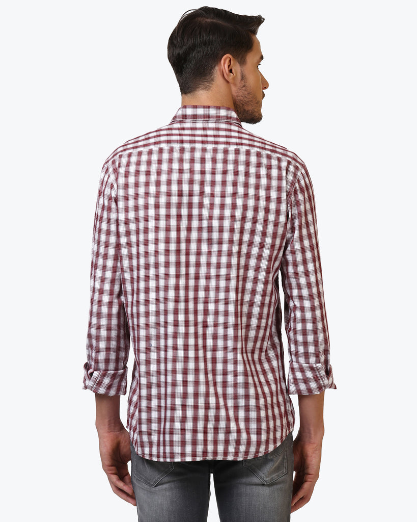 ColorPlus Maroon Tailored Fit Shirt