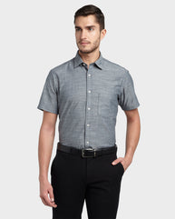 ColorPlus Grey Slim Fit Shirt
