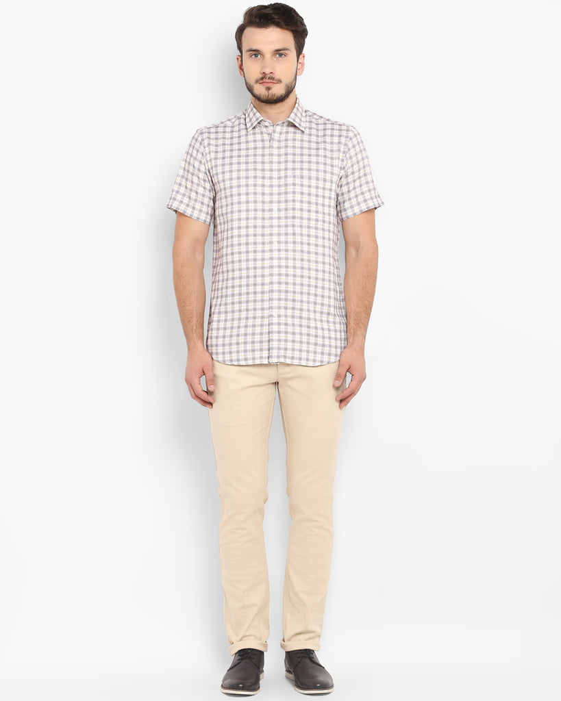 ColorPlus Dark Brown Tailored Fit Shirt