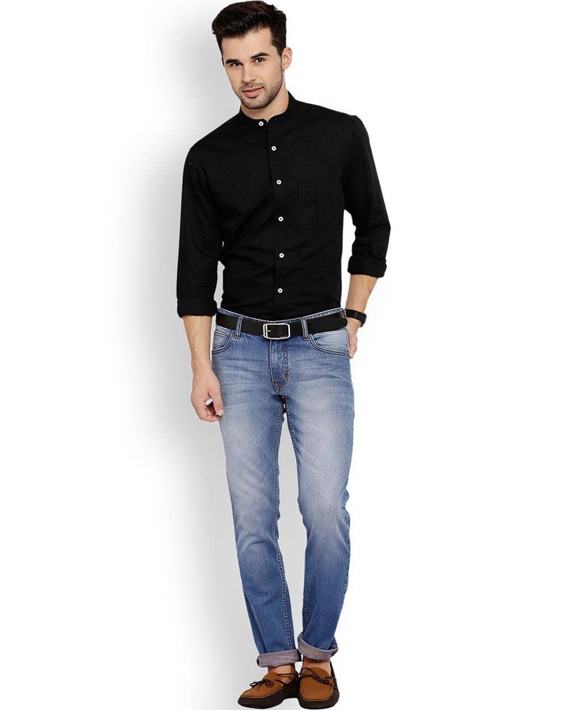 ColorPlus  Black Tailored Fit Shirt